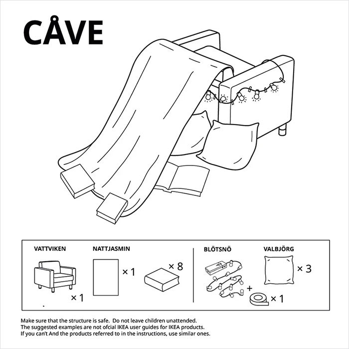 IKEA Guide to Building Furniture Forts During Quarantine