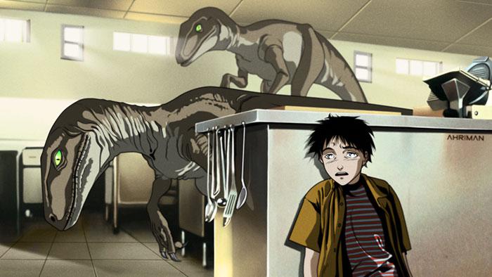 Jurassic Park as an Anime
