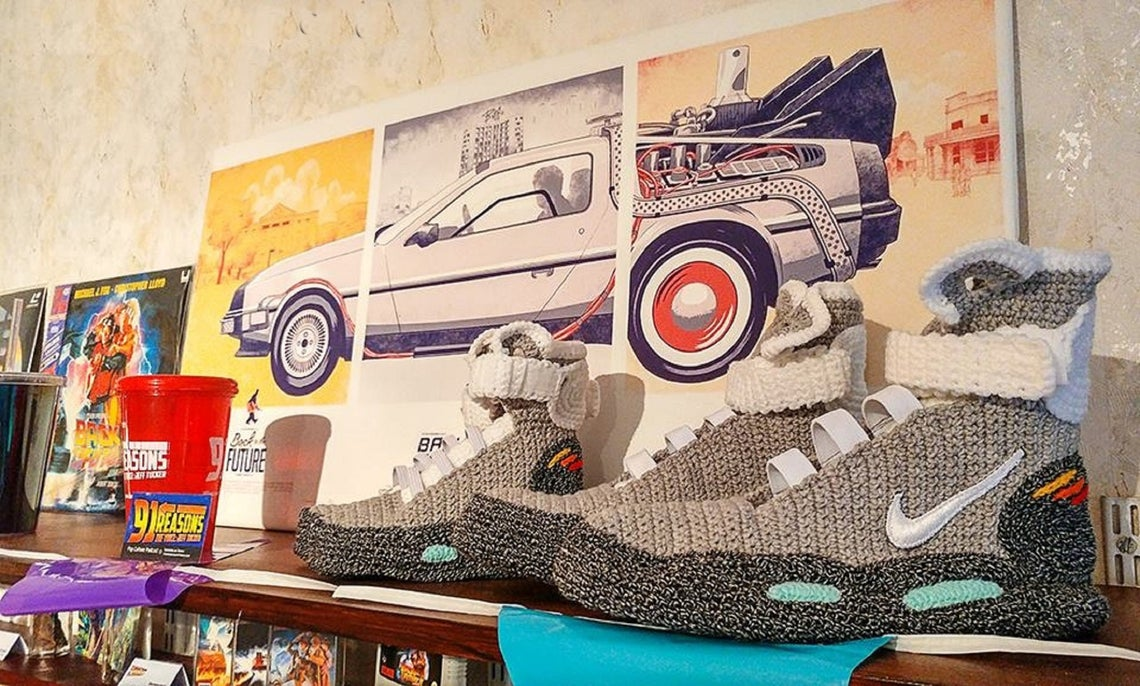 Back to the Future Nike Air Mag Knitted Slippers