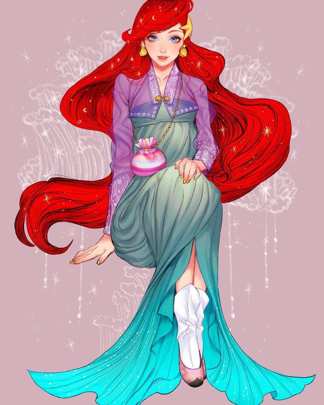 Korean Disney Princesses Fan Art