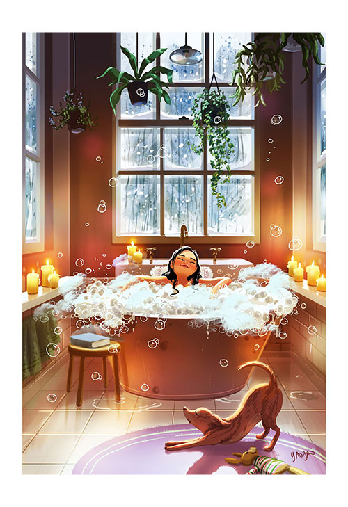 Beautiful Art Series of a Woman Living Alone