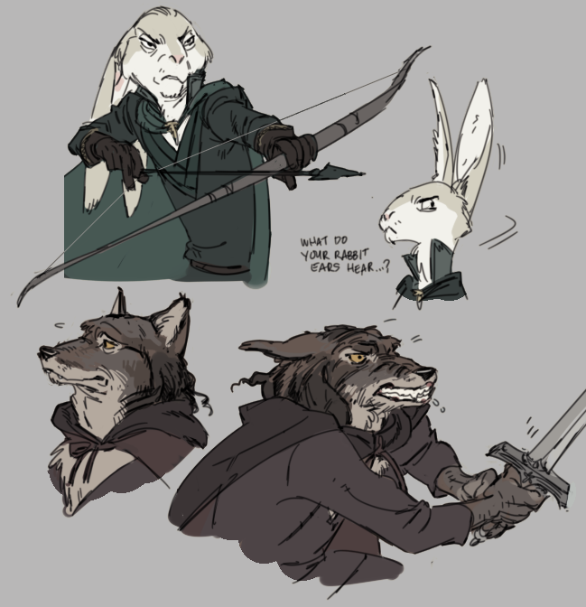 Lord of the Rings With Little Animals Fan Art