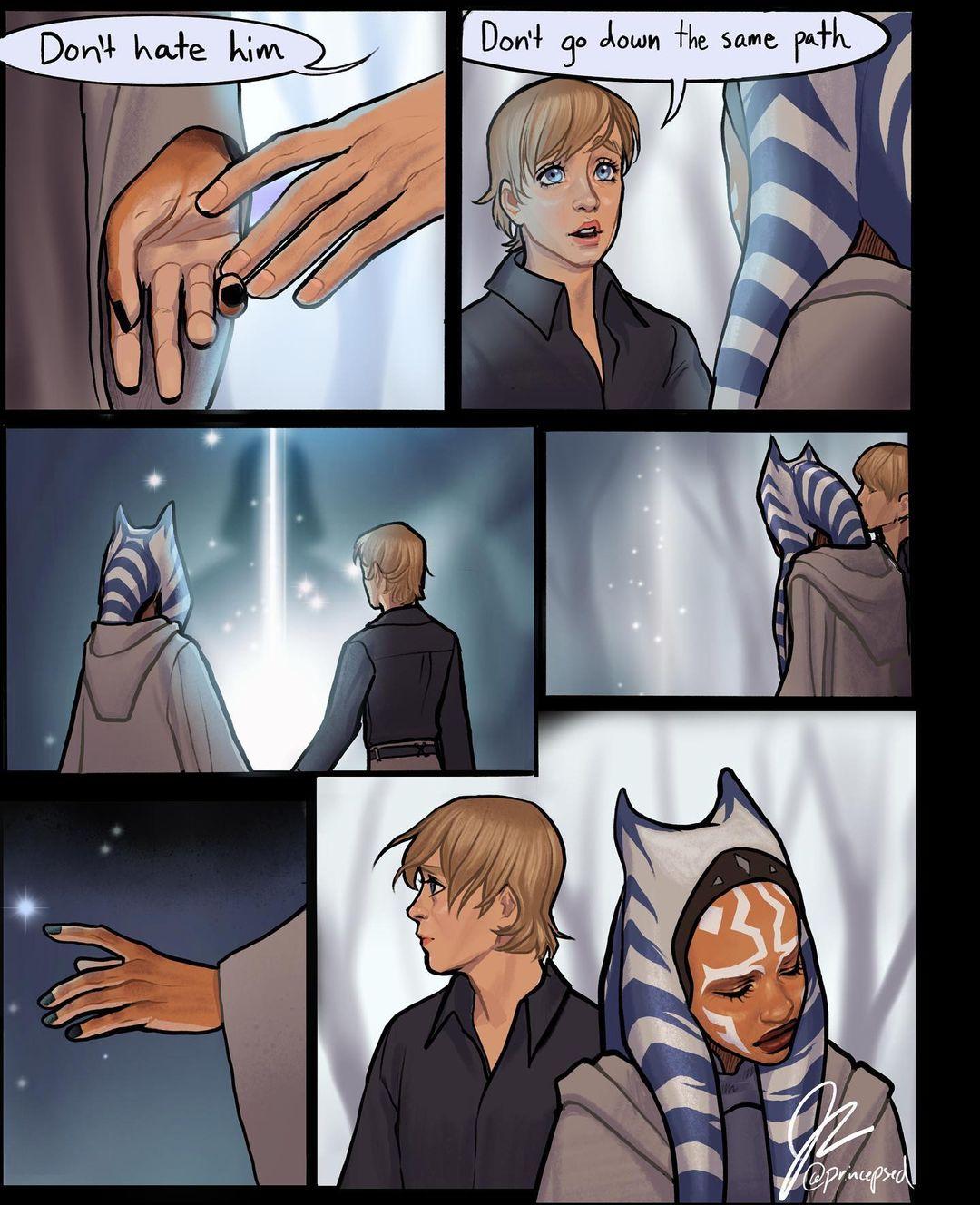 Luke Skywalker Meets Ahsoka Tano