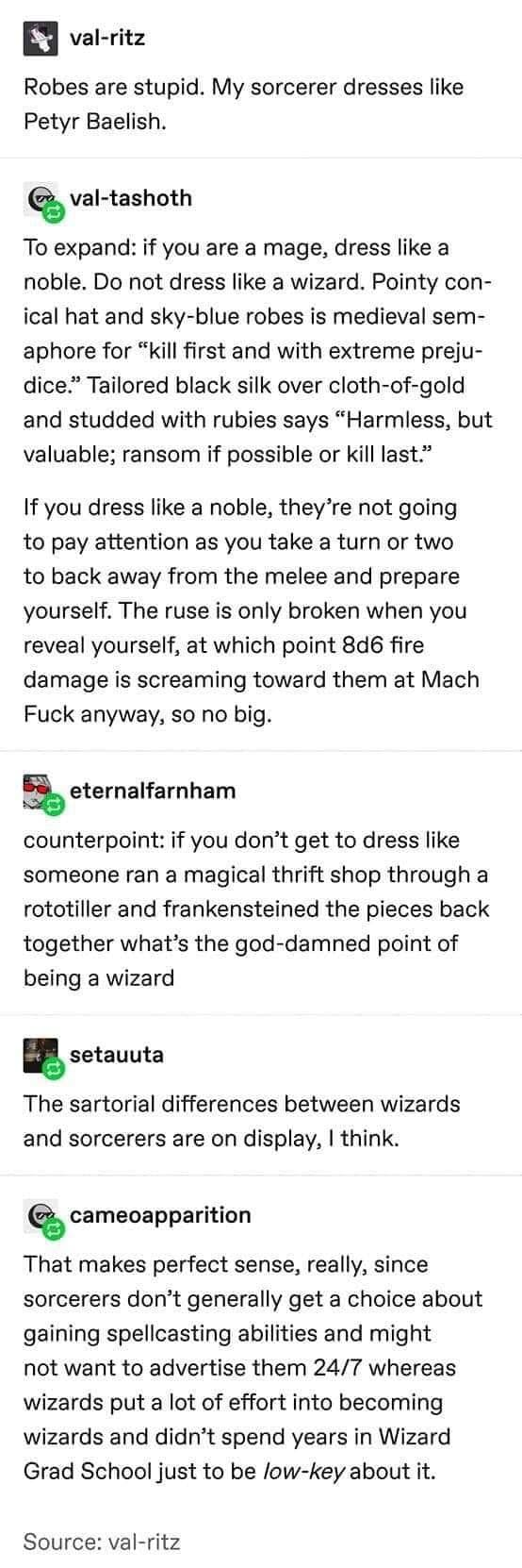 How a Mage Should Dress
