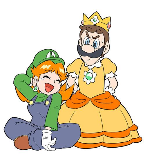 Super Mario Clothing Swap Fan Art