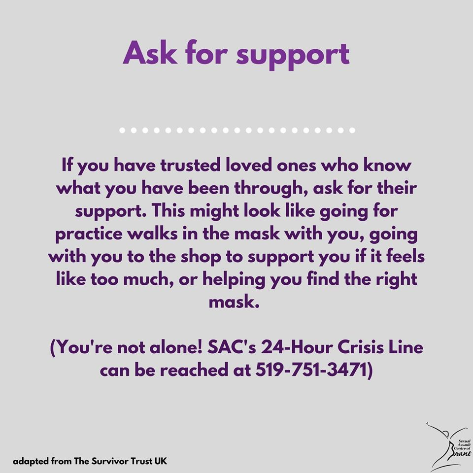 Tips for Survivors Who Find Wearing Masks Challenging