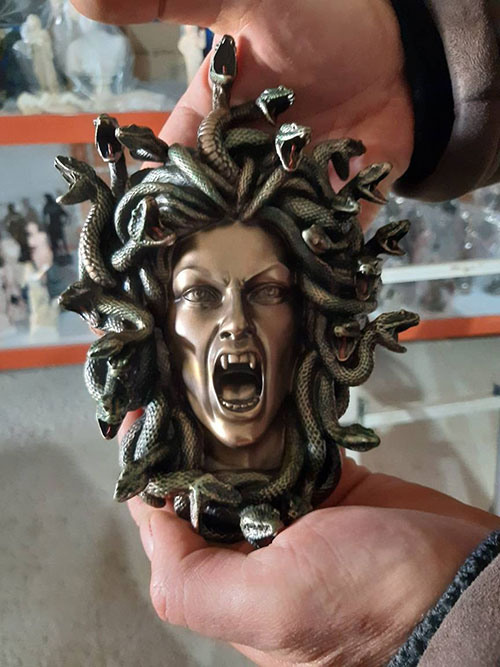 Medusa Greek Mythology Wall Statue