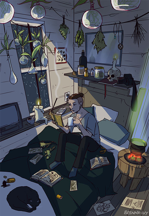 Modern Male Witches Art