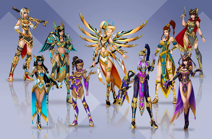 Overwatch Mythic Skins Concept Fan Art