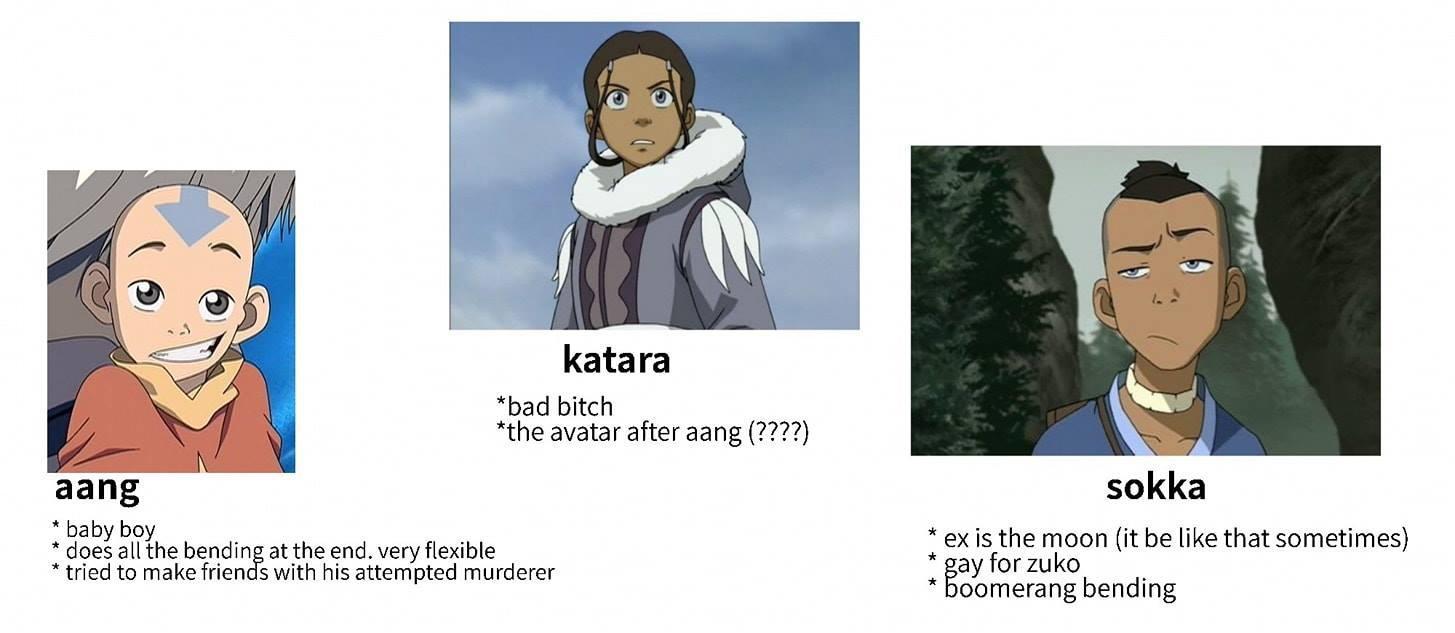 Avatar: The Last Airbender According to a Girl Whos Never Seen It