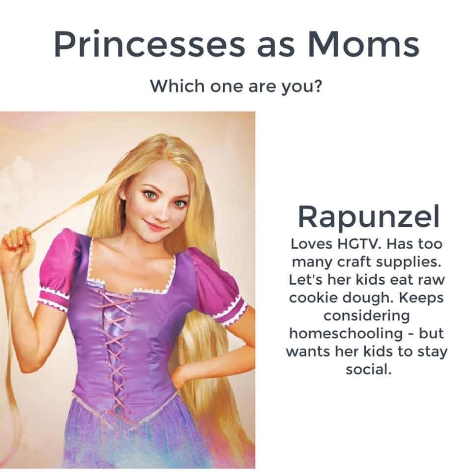 Disney Princesses as Moms