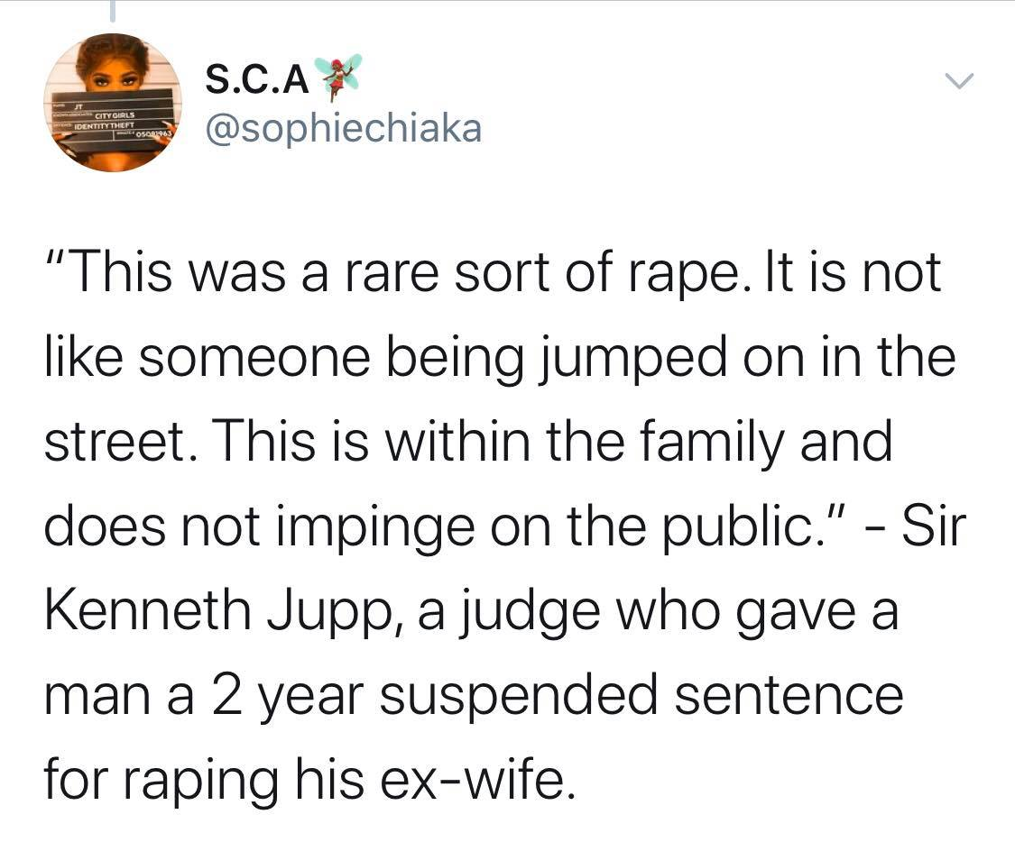 Quotes Said by Judges in Court During Rape Trials