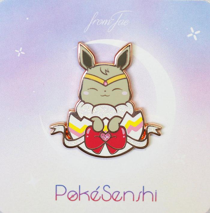 Eeveelution x Sailor Moon Fan Art Pins