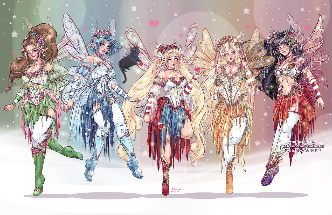 Sailor Moon Fairy Scouts Fan Art