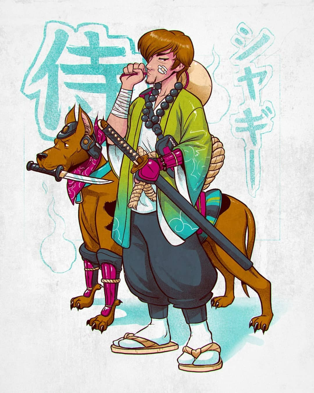 Samurai Scooby-Doo Fan Art