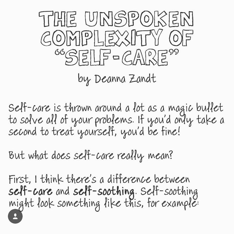 The Unspoken Complexity of Self Care
