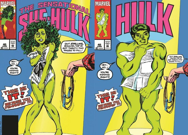 Redrawing Female Superhero Comic Book Covers With Males