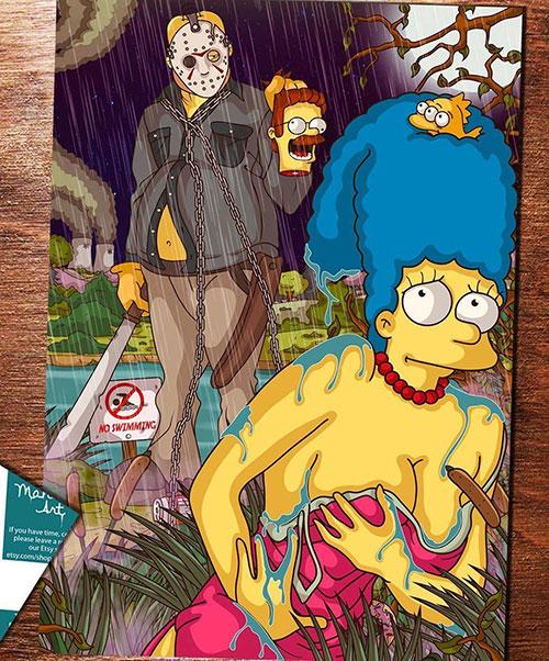 Simpsons Horror Mashup Fan Art