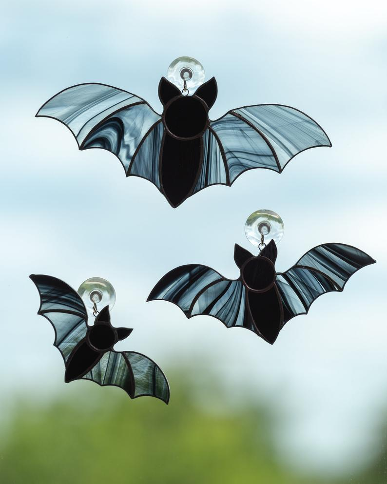 Stained Glass Window Bats