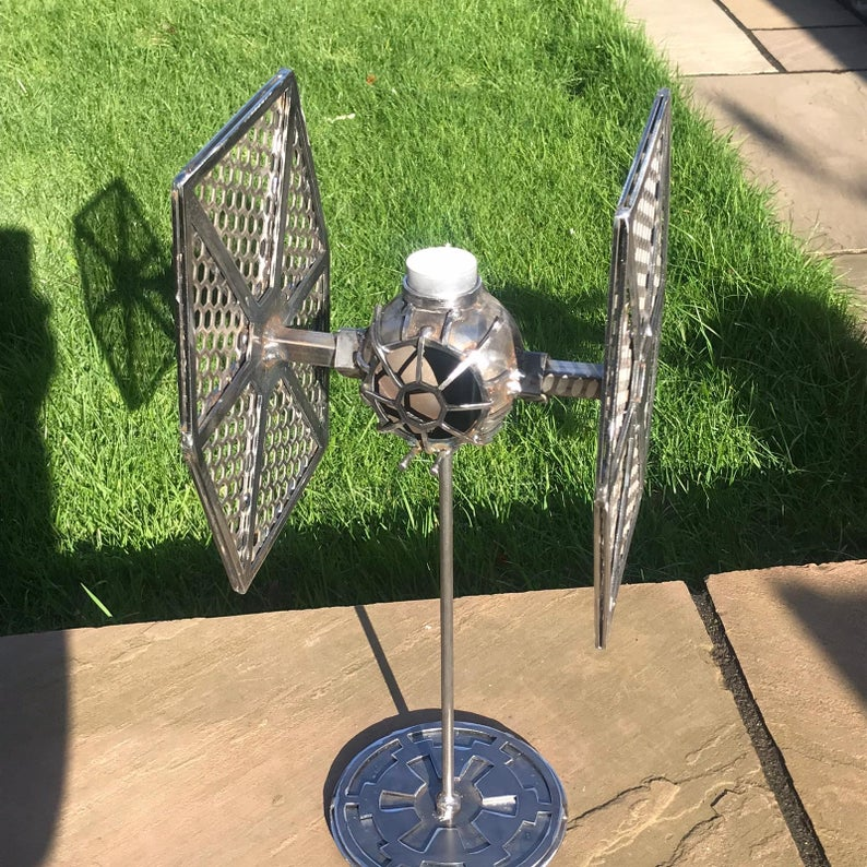 TIE Fighter and X-Wing Star Wars Candlesticks