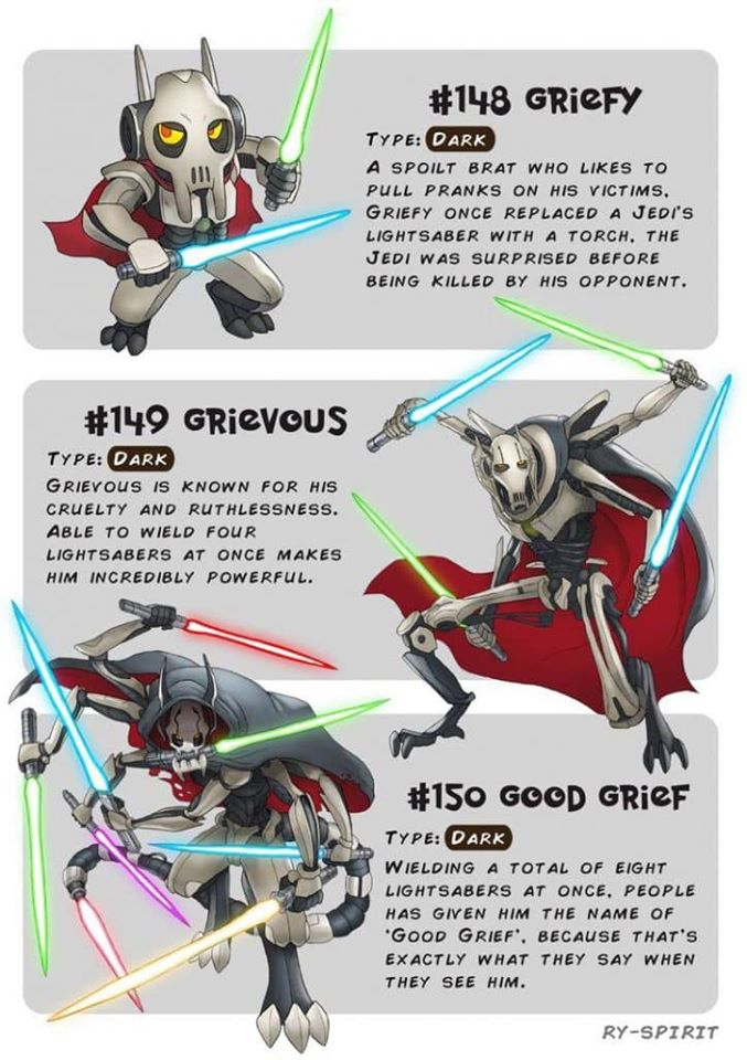 Star Wars Characters as Pokemon Evolutions