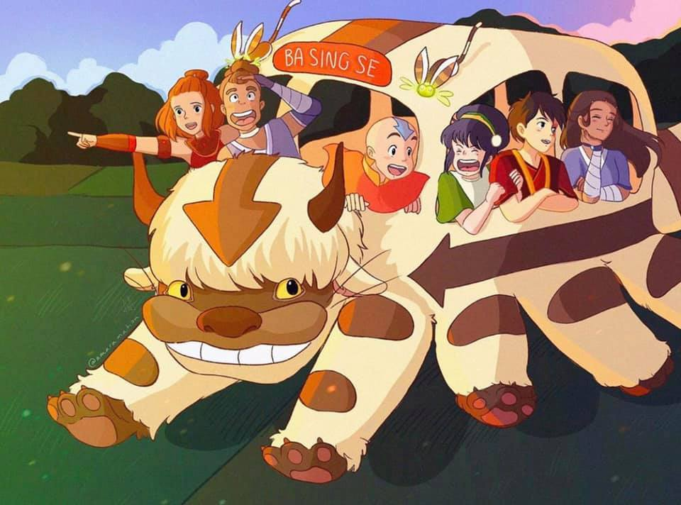 Studio Ghibli x Avatar Mashup Fan Art