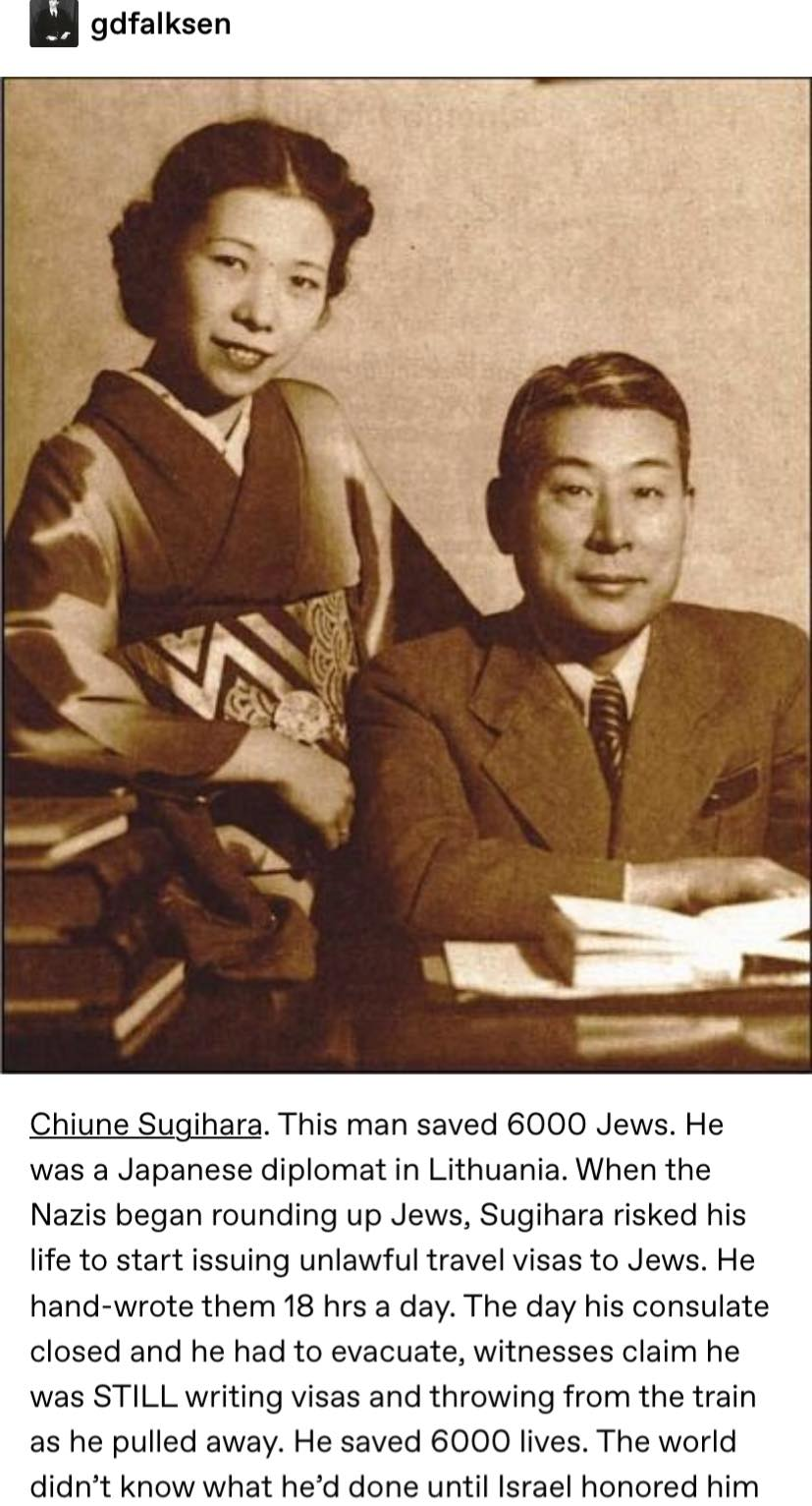 Chiune Sugihara Saved 6000 Jews