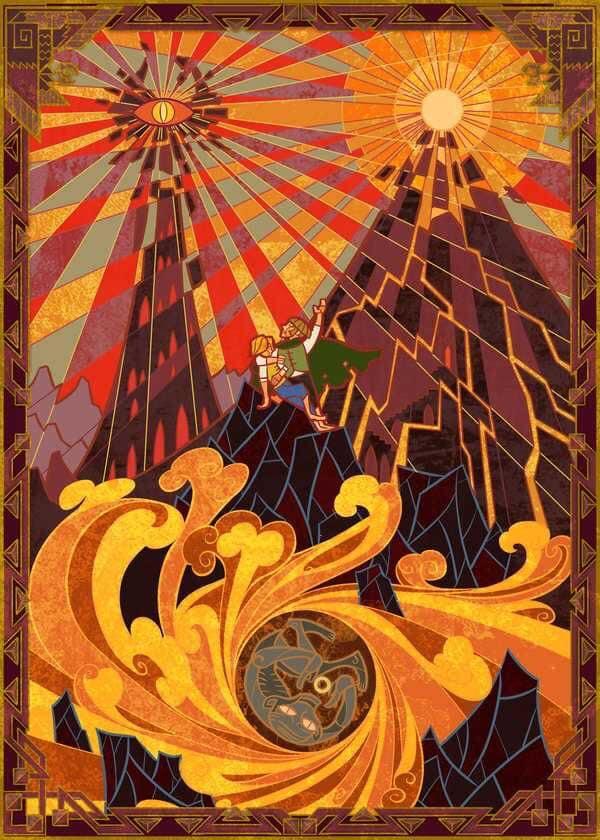 Tolkien Lore Stained Glass Inspired Fan Art