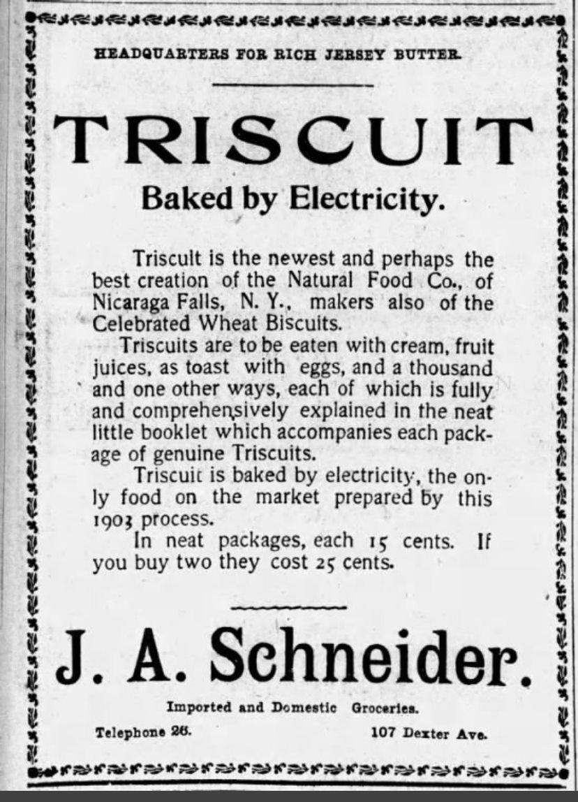 The True Origin of Triscuit Crackers