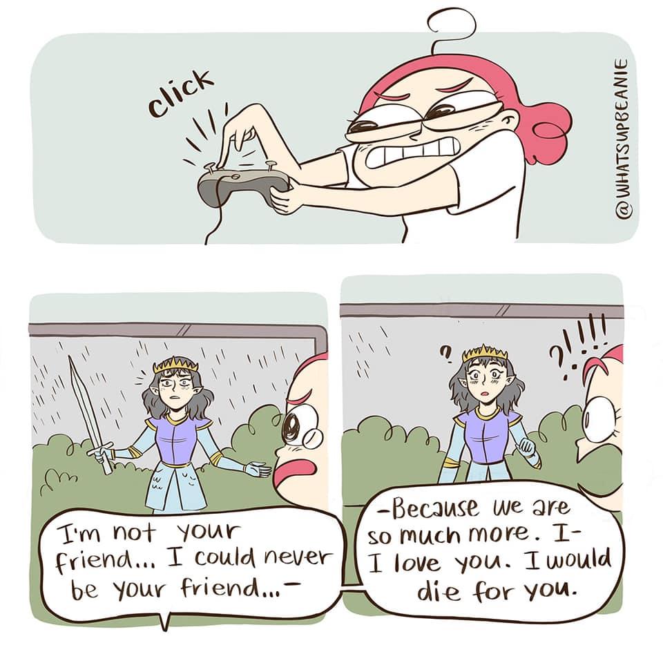 Video Game Dialogue Comic