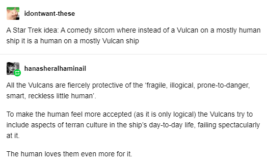 Human on a Vulcan Ship Star Trek Comedy Sitcom Idea