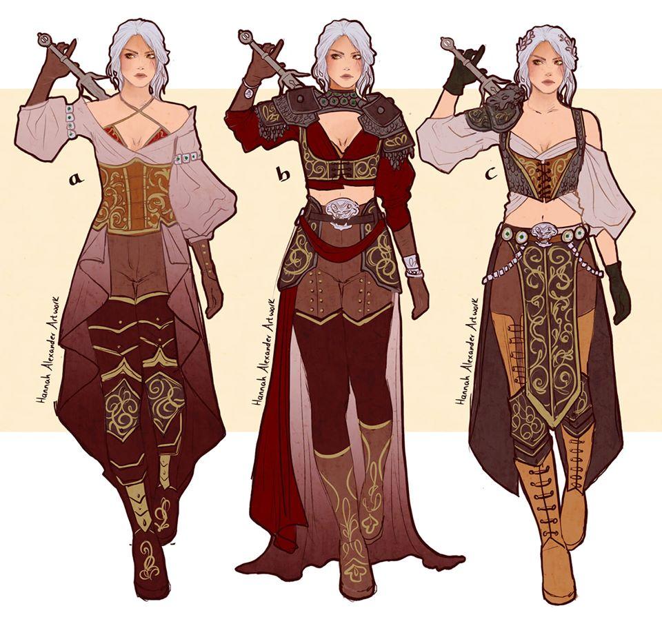 The Witcher Ladies Fan Art Designs