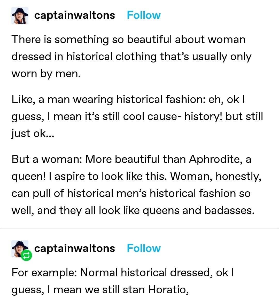 Women Wearing Traditionally Male Historical Clothing