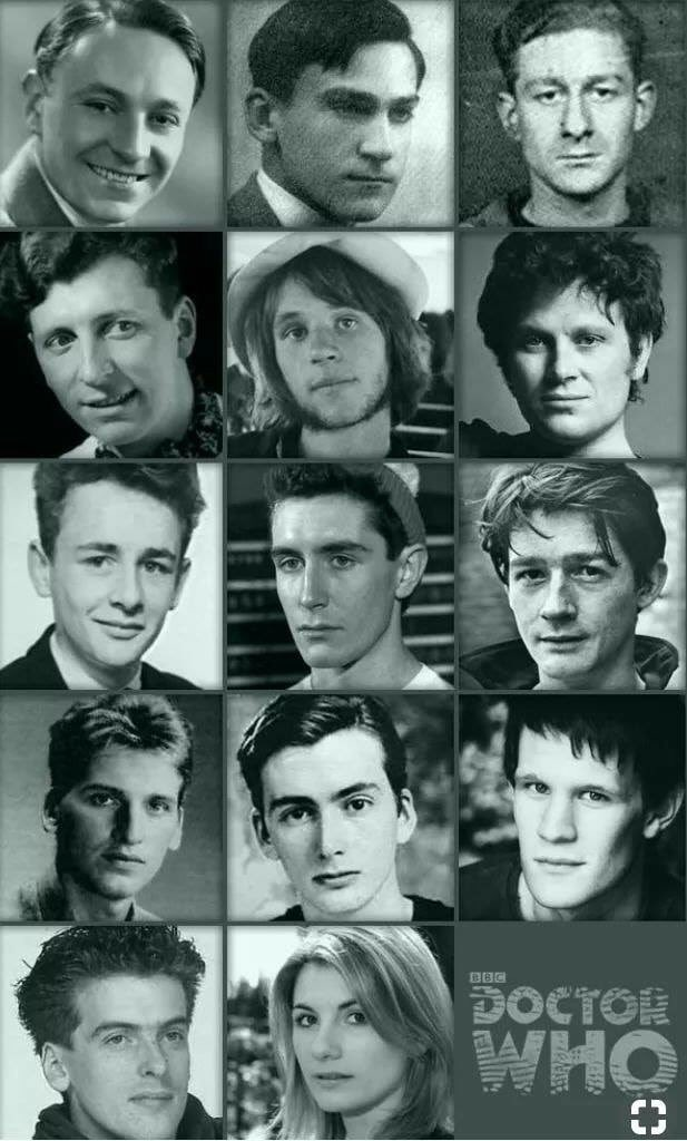 The Doctors From Doctor Who When They Were Young