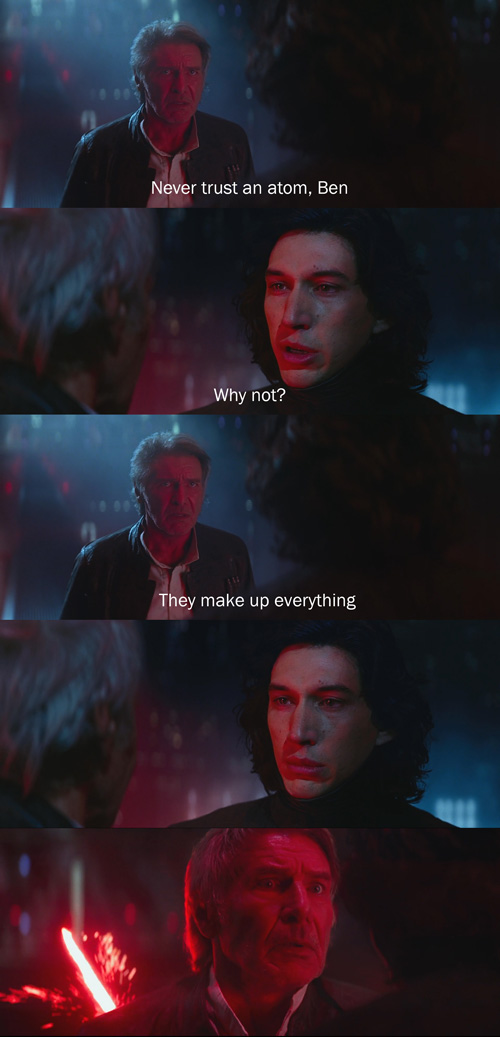 Han Solo Tells Dad Jokes To Kylo Ren