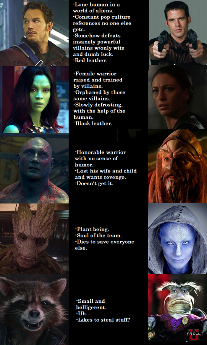 Why Guardians of the Galaxy is Just Like Farscape