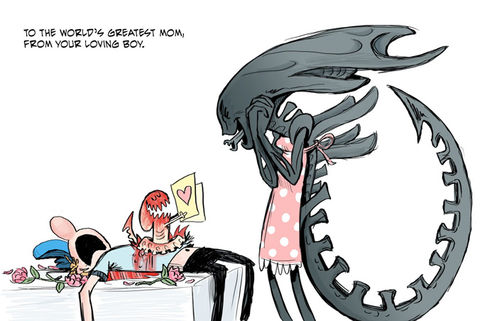 Mothers Day Alien Comic