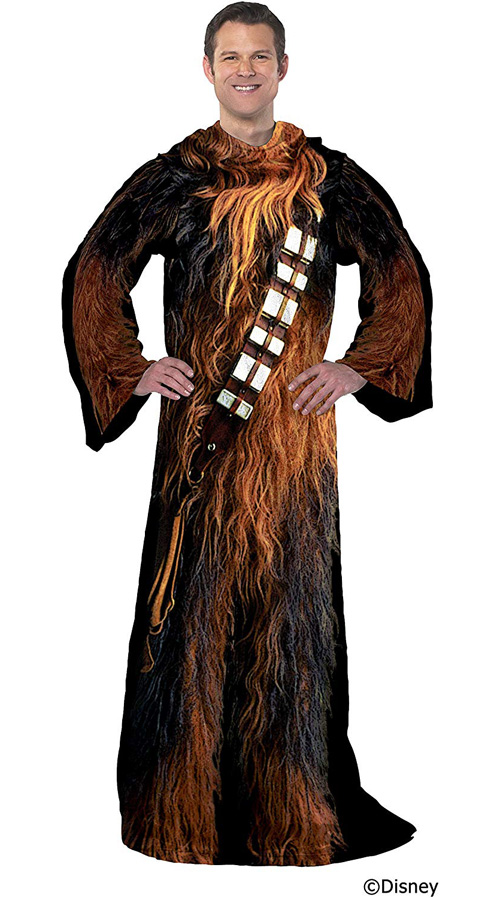 Star Wars Chewbacca Soft Throw Blanket with Sleeves