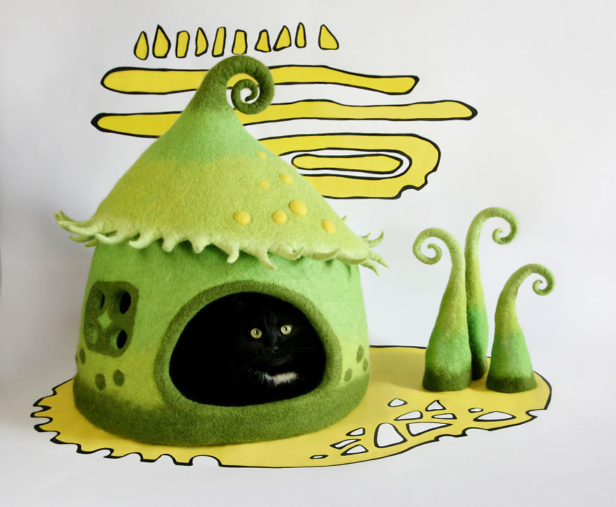 Felt Fairytale Cat Houses