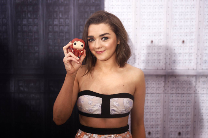Game of Thrones Cast at the Premiere with Funko Pop Vinyls