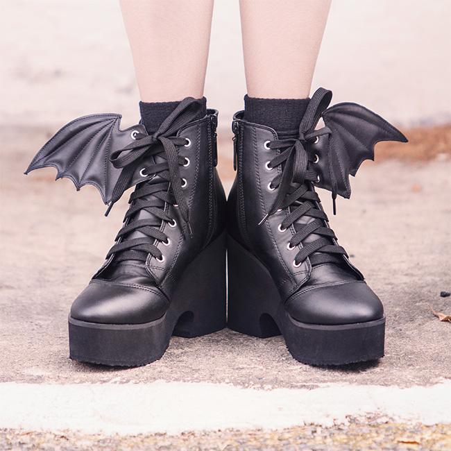 Winged Platform Boots