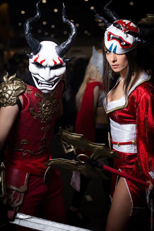 Blood Moon Shen & Akali from League of Legends Cosplay  Bloodmoon