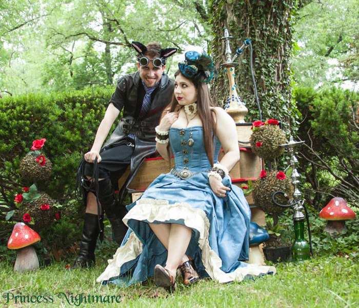 Steampunk Alice & Cheshire Cat Cosplay