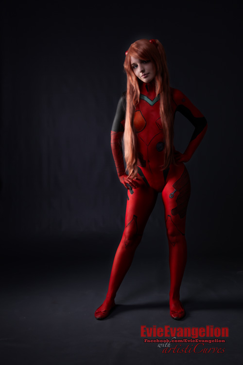 Asuka from Evangelion Body Paint