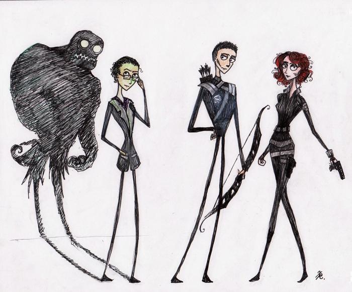 Artist Xenia Rassolova drew these awesome Tim Burton style sketches of ...