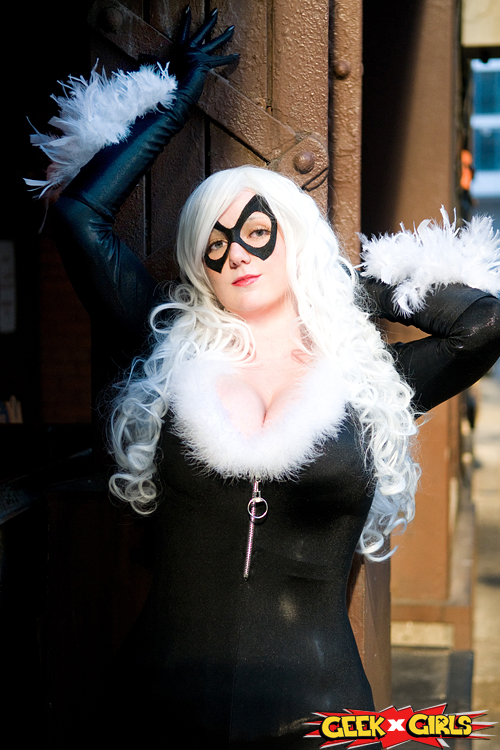 Geek Girl Black Cat Cosplay