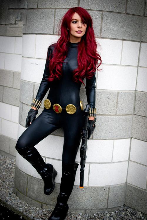 Black widow cosplay suit