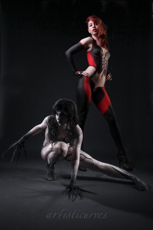 Ferril & Rayne from BloodRayne Body Paint