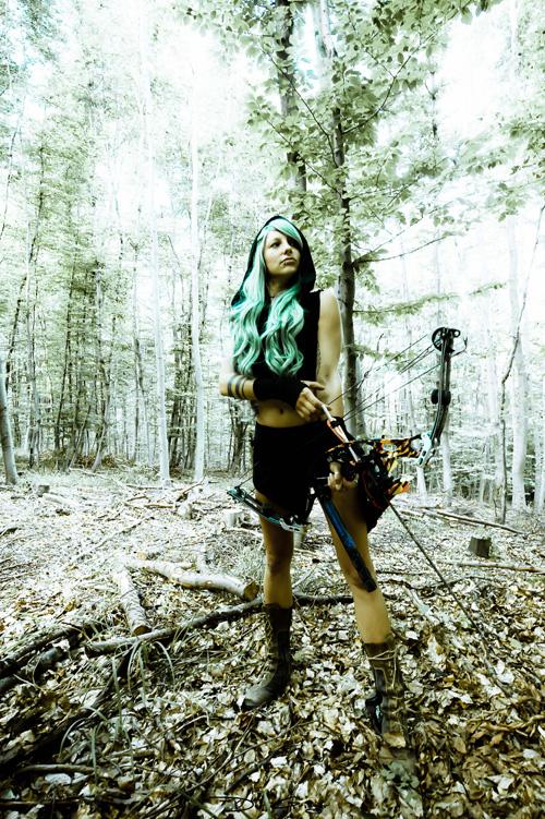 bow  u0026 arrow hunter girl photoshoot