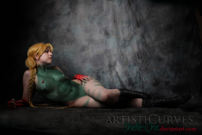 Cammy Street Fighter Body Paint